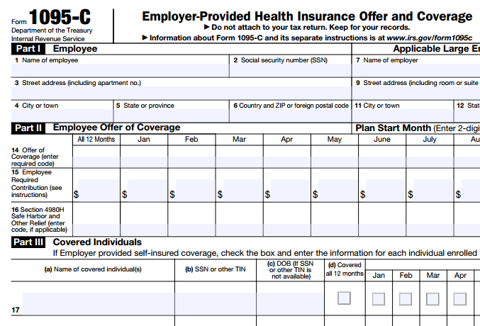 What Is Form 1095 C And Why Did I Receive It In The Mail From The Irs