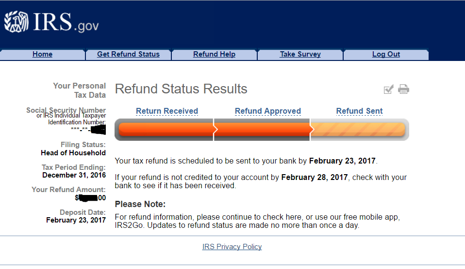 IRS sent out a press release that all tax refunds will be issued to those with EITC and ACTC the week of February 27th. Where's My Refund PATH Act Update.